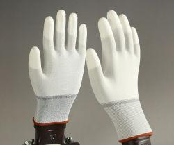 熱い販売法13G PUはセリウムCerficatedと手の保護のための安全作業手袋に塗った
