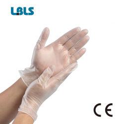Vinile a gettare dei guanti della mano del PVC della polvere di vendita diretta della fabbrica liberamente con il prezzo all'ingrosso