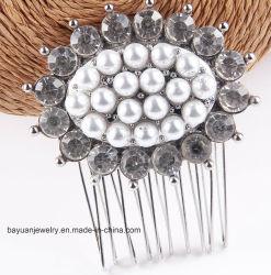Mode Femmes's Hair Accessoies Cristal Perle simulé Cheveux décoration verre Rhinestone Crystal Peigne à cheveux ornements de cheveux