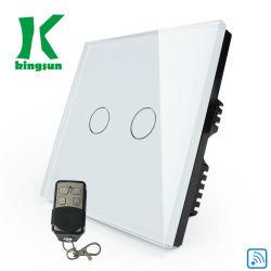 Ue rf ed interruttore bianco di tocco di WiFi 2gang 1way