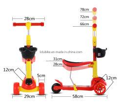 Spruzzo Hoverboard del pattino dei bambini di scossa della fiamma della plastica di disegno del motorino elettrico del capretto nuovo