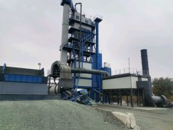 Luda 120tph planta mezcladora de asfalto, trituradora de piedra para el frío de la tolva de agregado