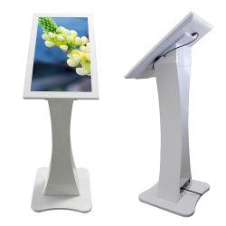 디지털 Signage 인조 인간 접촉 미디어 플레이어를 서 있는 텔레비젼 스크린 실내 지면을 광고하는 21.5 인치 HD LCD 주문을 받아서 만드는