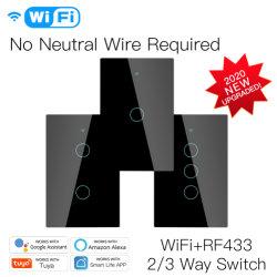 Methode des neue WiFi RF433 Tuya intelligente Lebensdauer-Fernwand-Schalter-3 kein Null110v/120v wir Standard