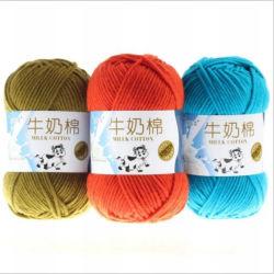 Il filato spesso di lavoro a maglia delle lane del latte del Crochet del cotone del filato per maglieria del filato molle del bambino per i filetti di lavoro a maglia lavora a mano