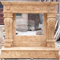 Diseño personalizado de Mantel de chimenea de mármol naturales de la decoración del hogar (GSMF-157)