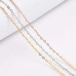 Costume de haute qualité de gros colliers de Bijoux en acier inoxydable de la chaîne de forme de coeur collier pour Fashion femmes Accessoires