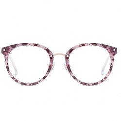 Azul anti Gafas para mujer de plástico de protección UV400 Combinated Rim con la mitad de la llanta metálica gafas equipo