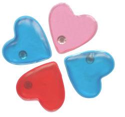 De opnieuw te gebruiken Kleurrijke Hart Gevormde Warme verpakking Zelf klikt het Verwarmen de Verwarmingstoestellen van de Hand van het Gel van Stootkussens
