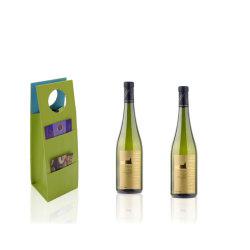 昇進のワインのパッケージの緑PUの革ギフトのワインの運送袋(3622)