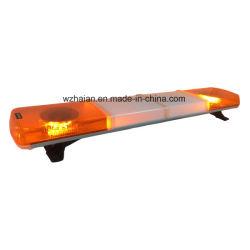 Вращающийся проблесковый маячок LED с крышкой белого цвета в центре штанги освещения