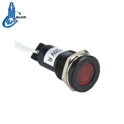 Ad22c-10d/L de 10mm negro LED Lámpara Luz indicadora de señal
