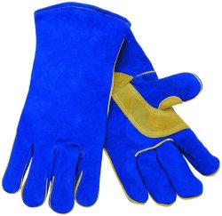 Темно-синяя корова Split кожаные усиленные Palm сварочных работ перчатки
