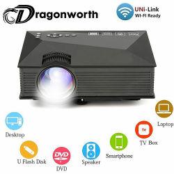 UC46+/UC46 più cinematografo pieno della casa del proiettore del proiettore HD 800X480 LED del LED il video 1200 proiettore di sostegno Miracast/Airplay di WiFi di lumen
