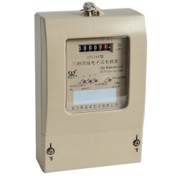 Fase tres Multi-Rate electrónica Medidor de energía activa con pantalla LCD