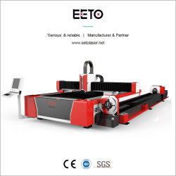 Китай заводская установка лазерной резки с оптоволоконным кабелем с ЧПУ для стального листа&трубки режущий