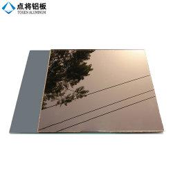 Commerce de gros de verre flotté miroir en aluminium de Bronze à haute performance