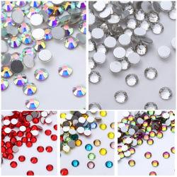 ホールセール DIY DMC ルーズガラス、バックノンホットフィックス、フラットバック 水晶ラインストーンは衣服のために設計する
