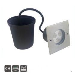 3W~9W de acero inoxidable IP67 empotrables LED enterrada en el suelo