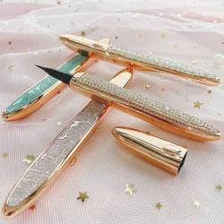 新しいデザイン卸売はあなた自身のブランドのダイヤモンドの自己接着アイライナーのプライベートラベルの防水ミンクボックスが付いている魔法のアイライナーを打つ