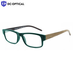 2020 Óculos de Leitura de madeira em forma de quadrado o logotipo personalizado templos de PC transparente UV da estrutura Plástico Designer grossista Óptico