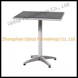 Commerce de gros bois Bistro haut de salle à manger en plein air table aluminium (SP-AT326)