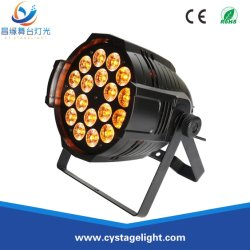 يستطيع نظام الغسيل الداخلي بمعدل 18X8w بمعدل 4 بوصات ومعدل ضربات 1 LED، الذي يبلغ 4 بوصات، أن يتكامل مع تأثير الغسيل إضاءة الحفلات
