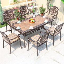 Открытый стол и стул Anticorrosive садом комбинации, терраса для отдыха есть балкон открытый обеденный стол и стул