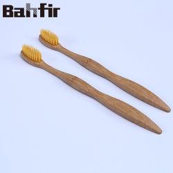 DuPont Bristle nettoyant timon brosse à dents adulte enfants Enfants brosse à dents de la poignée de bambou
