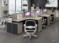 Form-Büro-Möbel-Team-Arbeitsplatz-Melamin-Partition-Tisch