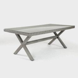 Patio con jardín al aire libre de alta calidad rota la mesa de comedor