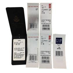 Commerce de gros vêtements pendre les tags RFID papier autocollant de carte de l'étiquette pour les vêtements