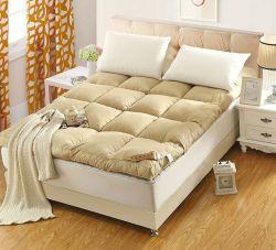 Hipoalergénico para baixo Festher colchão lavável macia cama para baixo Mattresstopper branco