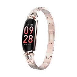 Mesdames podomètre numérique Smartband étanches IP67 Bracelet acier inoxydable montres Bluetooth Interface Utilisateur Dynamique Smart Bracelet de remise en forme de sport