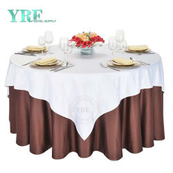Taille personnalisée 108 pouces Polyester Nappe ronde Nappe ronde Banquet d'Ivoire 108 Linge de maison