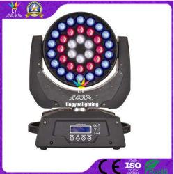 DJ 36X18W UV RGBWA 6NO1 Fase móvel de luz LED de cabeça