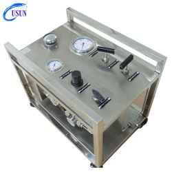 우운 모델: US - 게이지, 밸브 및 스테인리스 스틸 파이프라인을 포함한 복동식 공기 구동식 액체 파워 팩