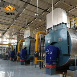 5.6MW envasados de tubo de combustión de gas Caldera de agua caliente