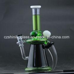 Cuerno de buey brilla la luz de la serie de vidrio de color verde el hábito de fumar los tubos de agua para las plataformas petrolíferas