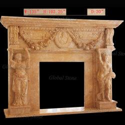 Lareira Surround mármore decorativos (GSMF-256)