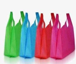 PP 쇼핑 (30GSM-100GSM)를 위한 비 길쌈된 조끼 부대