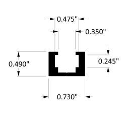 Удалите Anodize покрытием для алюминиевых T-контакт ползунок