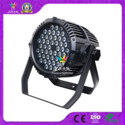RGBW 54 3W는 야외 무대 점화 동위 64 LED를 방수 처리한다