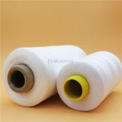 Vente d'usine de 100 % Polyester haute ténacité les fils à coudre 40/2 50/2 60/2 filés de polyester à 100% prêt pour les vêtements couture