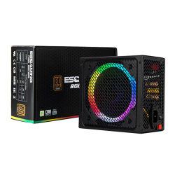Calculador de jogos para PC de alta eficiência ATX PSU 500W LED RGB 12cm Ventilador da fonte de alimentação do PC 80+ voltagem ampla