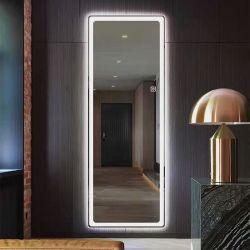 Главная Декоративная ванная комната Умная светодиодная зеркало с Подробнее Функция защиты от запотевания Bluetooth