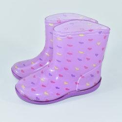 Nouveau design de gros bébé violet antidérapant chaussures étanches de pluie en PVC pour enfants Les enfants Bottes de pluie