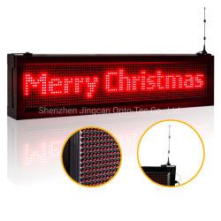 Affichage de défilement de plein air P10 ROUGE signe LED programmable Déplacement de texte