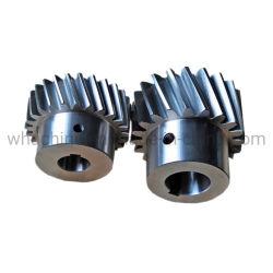 Moulage de grand diamètre en acier à chevrons de circonférence de roue/four à chevrons engrenage/circulaire double dent trempée à denture hélicoïdale du réducteur de roue