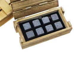 Formato Personalizado Caixa de madeira Conjunto de rochas de uísque escocês pedras arrepiante Dom para Padre dia